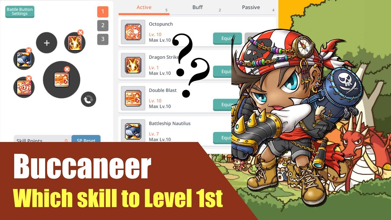 Maplestory Best Class 2020.Maplestory M What Skills To Lvl First For Buccaneer After Level 100