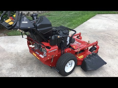 Introduction / Demo eXmark 36 Inch Turf Tracer S Series Hydro Walk Behind Lawn Mower