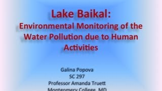 Lake Baikal Environmental Monitoring - SC297- June 2013