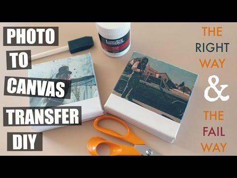 PHOTO TO CANVAS TRANSFER DIY: THE RIGHT WAY & THE FAIL WAY
