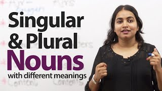 Nouns with Different Meanings in the Singular and the Plural - English Grammar lesson