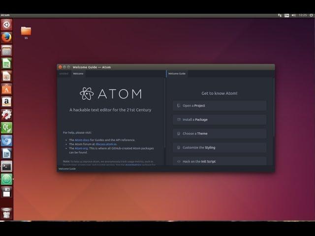 How to install Atom editor in Ubuntu Linux