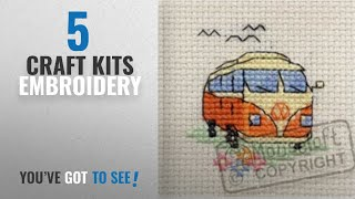 Top 10 Craft Kits Embroidery [2018]: Mouseloft Mini Cross Stitch Kit - Camper Van, Stitchlets