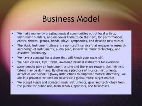 Music Instrument Library Business Plan