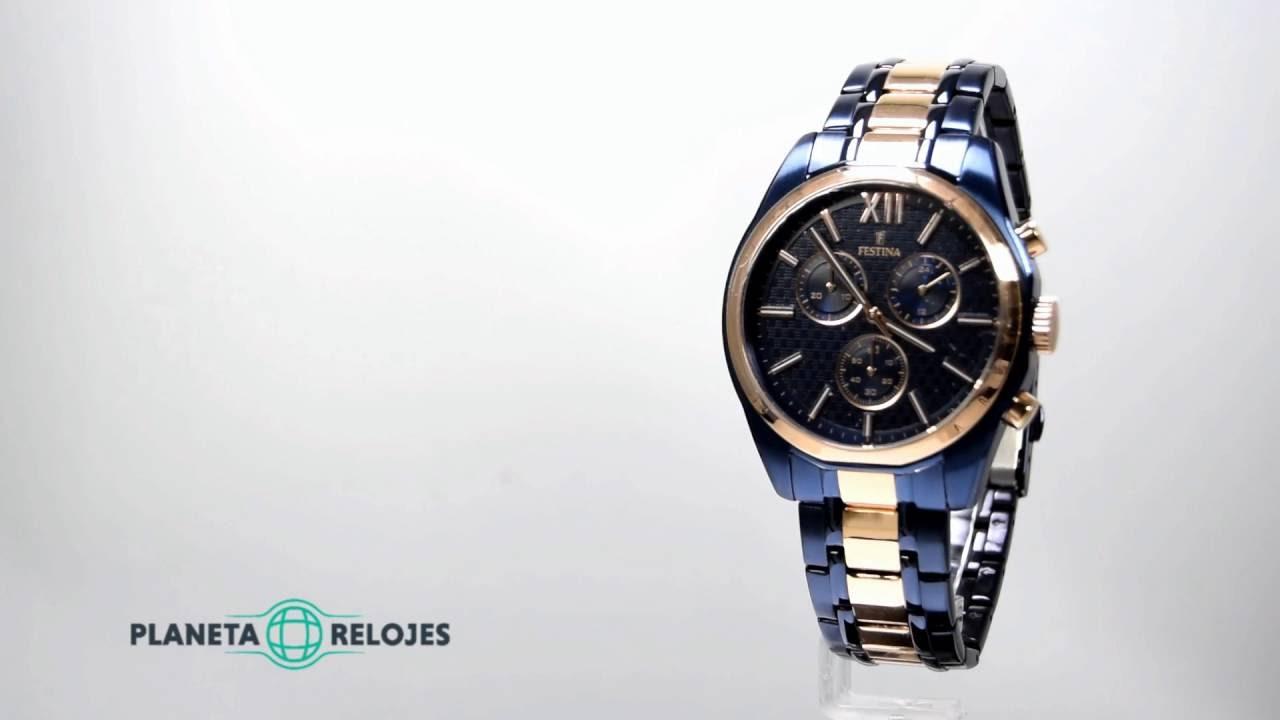 e8ad2b3171cf Reloj Festina F16857-1 - YouTube
