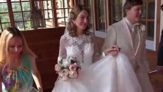 Съемочный фрагмент свадьбы