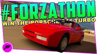 #FORZATHON Turbo Charging (FORZA HORIZON 3) Win The Porsche 944 Turbo