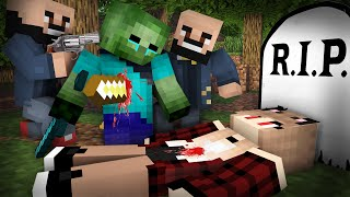 Zombie Life 25 : Sad cute Girl and old Man | Zombie life - Minecraft Sad Animation