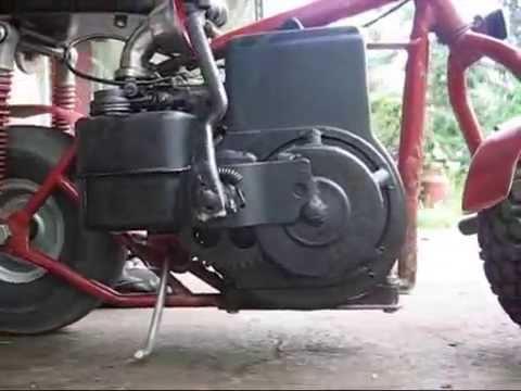 homemade kick starter tecumseh minibike briggs custom motor