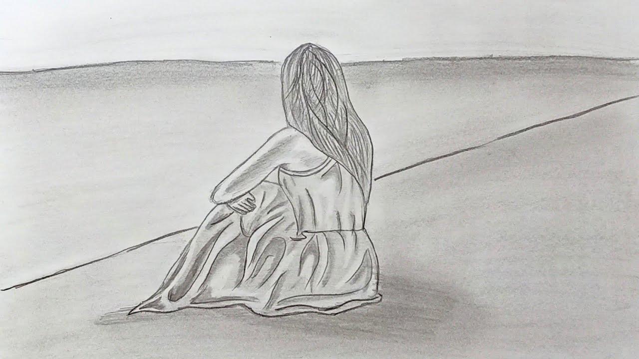 Sad Landscape Drawings