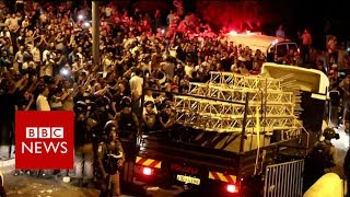 Jerusalem holy site: Cheers as scaffolding removed - BBC News