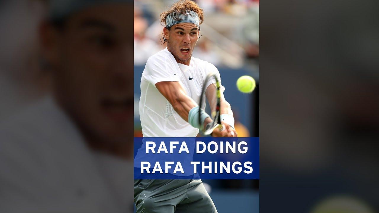 Rafael Nadal hits INCREDIBLE overhead slice! 💪