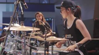 [LIVE] 2017.07.09 羅小白 S.white feat. Rani Ramadhany - Moves Like Jagger (Maroon 5 drum cover)