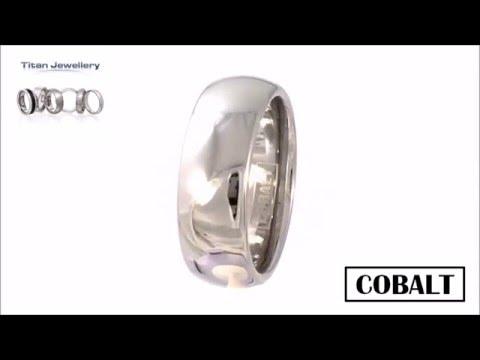 Men's 8mm Polished Court Cobalt Wedding Ring