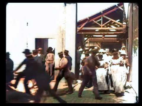 [DeOldified] Lumiere 1895 Sortie De L'Usine Lumière à Lyon Workers Leaving Factory
