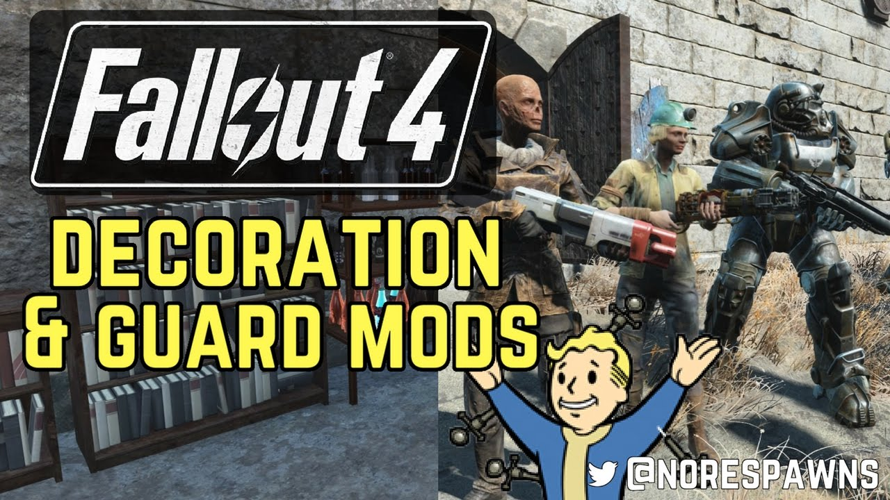 Fallout 4 workshop decorations faction guard mods for Fallout 4 decorations