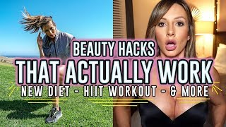 BEAUTY HACKS - NEW DIET, STATS, AND HIIT WORKOUT