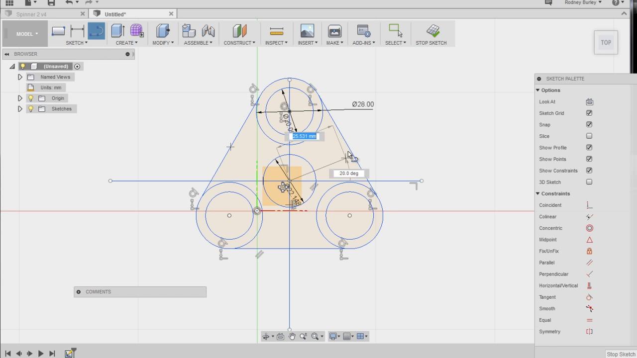 Ausmalbilder Fidget Spinner: Fidget Spinner 3D Tutorial 1