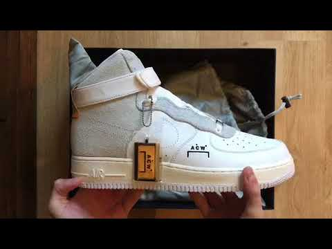official photos a220c 9aee6 Nike Air Force 1 High x A-Cold-Wall by Samuel Ross A Quick Unboxing