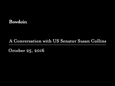 A Conversation with US Senator Susan Collins