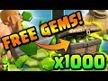 GETTING 1000 FREE GEMS IN CLASH OF CLANS! - NO HACKING, NO CHEATS, NO PURCHASES!