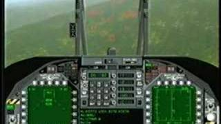 F/A-18 Korea 2 on 2 Air Combat Maneuver