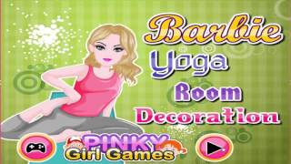barbie yoga room decoration game