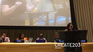#Create2030 poet Roxy Azari performs her poem at UNGA
