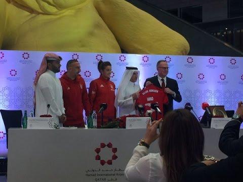 Bayern Munich and Doha Airport sponsorship deal (Qatar)