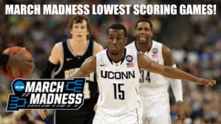 NCAA March Madness: Lowest Scoring Game From Every Tournament (2011-2019)
