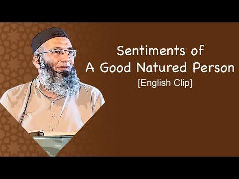 Sentiments Of A Good Natured Person | Shuja Uddin Sheikh