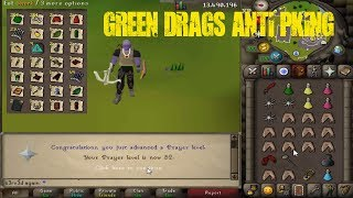 45-52 Pray Via Anti Pking @ Green Drags (DCLAWS + GMAUL) OSRS