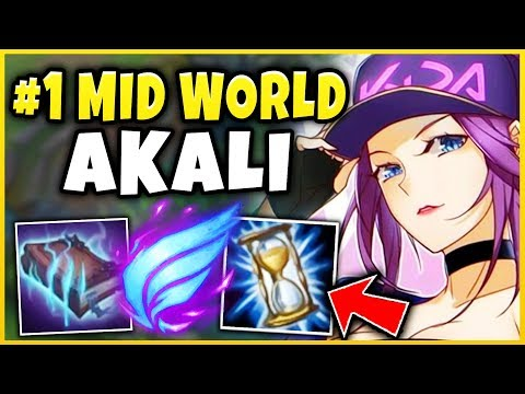 THE ABSOLUTE BEST SEASON 9 AKALI BUILD (#1 MID WORLD IG ROOKIES BUILD) - League of Legends