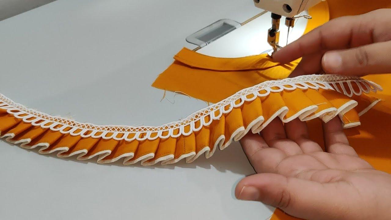Frills और Lace से बनाएं Boat Neck का बेहद खूबसूरत डिज़ाइन / Beautiful Boat Neck Design with Frills
