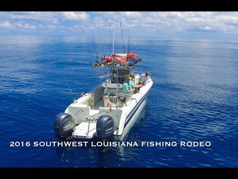 Offshore Fishing Louisiana PENN  MAKO COBIA SNAPPER DEEP DROP 1000 Ft 2016 Auger Oil Rig DRONE VIDEO