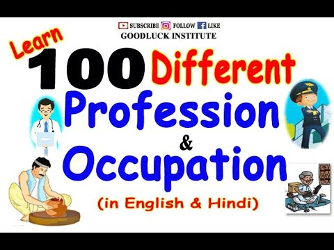 100 Different Types of Jobs || Profession & Occupation || Goodluck Institute