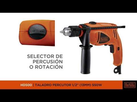 """Taladro Percutor BLACK+DECKER 1/2"""" (13MM) 550W HD500"""