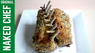 Christmas RACK OF LAMB  with garlic rosemary How to cook recipe
