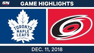 NHL Highlights | Maple Leafs vs. Hurricanes - Dec 11, 2018