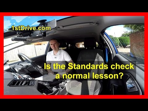 Is a standards check lesson like a normal driving lesson?