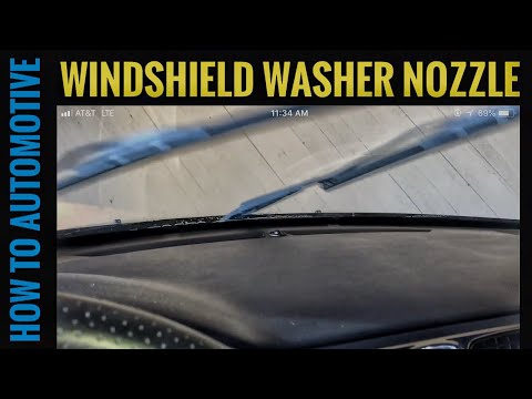 How to Replace the Windshield Washer Nozzle on a Chrysler 200