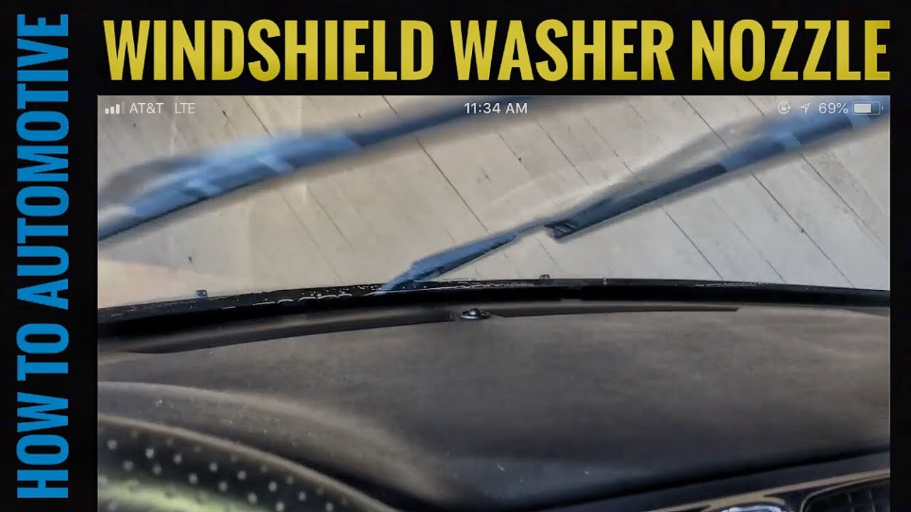 how to replace the windshield washer nozzle on a chrysler 200 [ 1280 x 720 Pixel ]