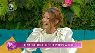 Teo Show (25.10.) - Elena Gheorghe, ce i se intampla in zilele de 30 ale lunii? Ce superstitii are?