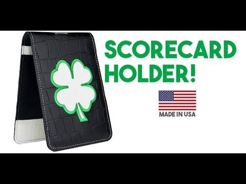 Leather Four-Leaf Clover Scorecard Holders!