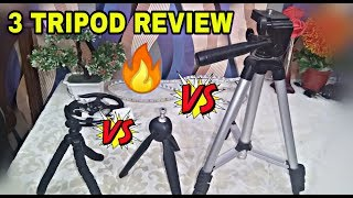 Reivew of 3 Tripods for Youtube Videos & Vloging | 2018