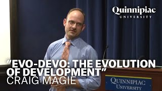 """On march 1, 2013, assistant professor craig magie presented, """"evo-devo: the evolution of development."""" this lecture was part """"60 second series..."""