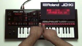 Roland JD-Xi - Programs, Banks, and Favorites