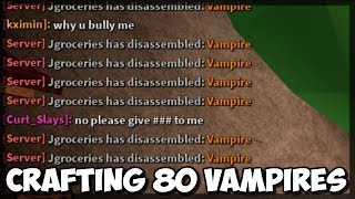 Fabrication de 80 Vampire Exotics Into Coins (Roblox Assassin)