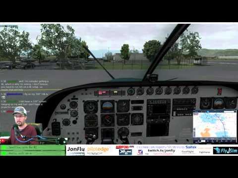 Carenado Cessna 208B Grand Caravan KPOC to KSAN on Pilotedge and FSEconomy c208