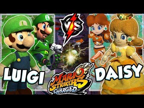 ABM: Luigi Vs Daisy !! Mario Strikers Charged !! Gameplay Match !! HD